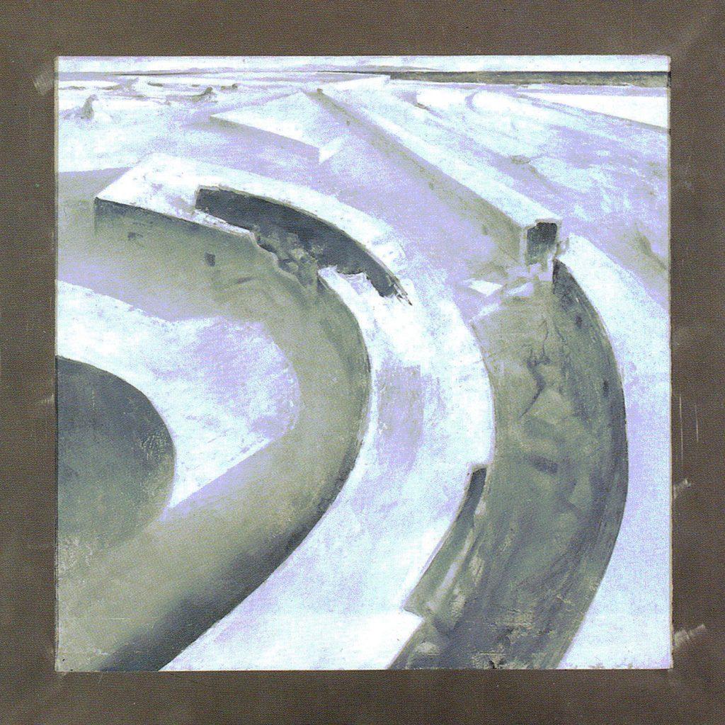 65º 30´La - Norte 160º 29´Lo - Este . óleo sobre tela - 100 x 100 cm- Jaime Sánchez