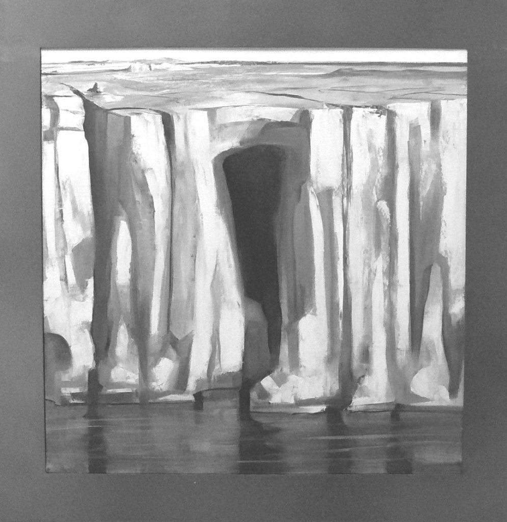 Acantilado-serie Geografía- óleo sobre tela-100 x 100 cm-Jaime Sánchez