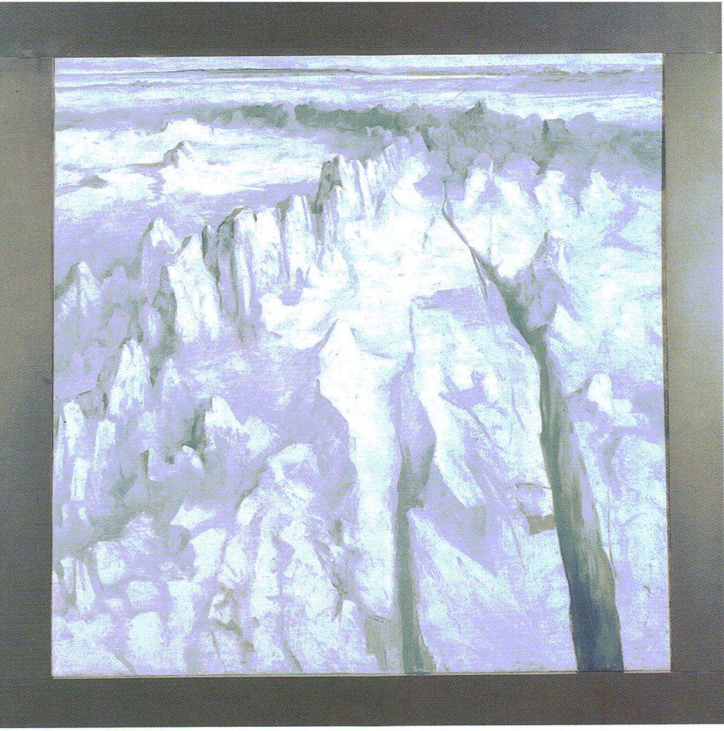 62º 38´ La - Norte, 10º 10´ Lo - Este. serie Geografía- óleo sobre tela- 168 x 168 cm- 1999- Jaime Sánchez