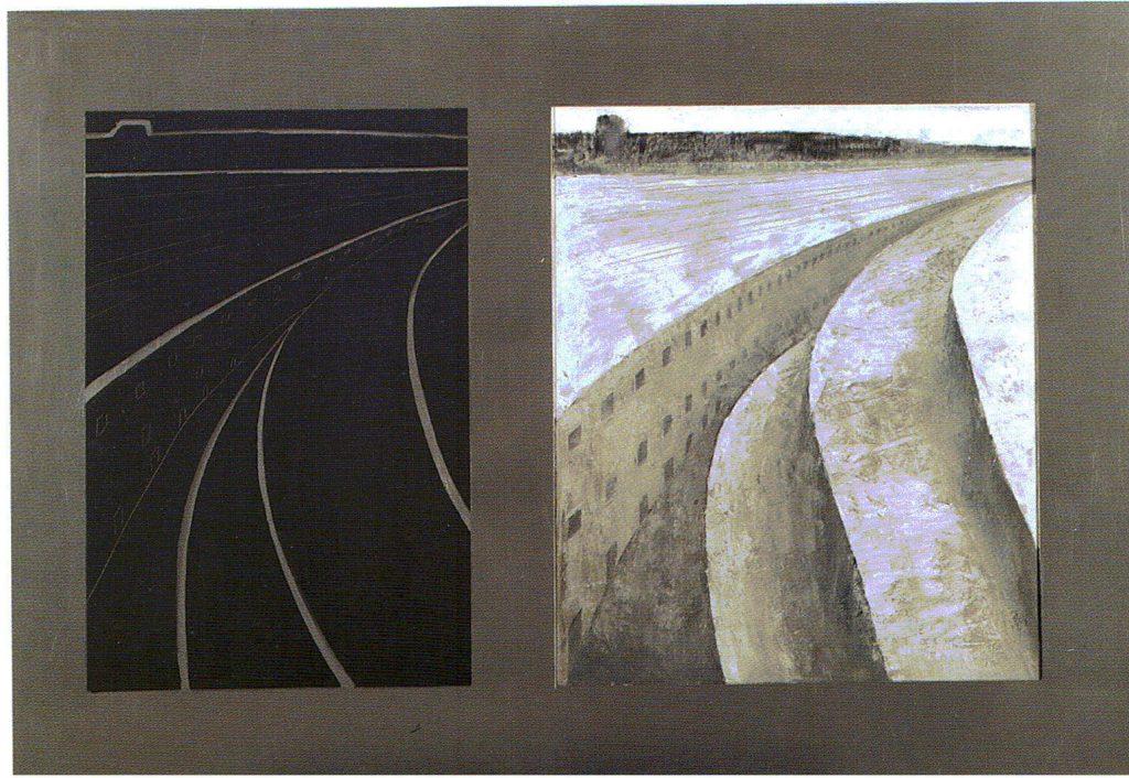 79º 29´ La - Norte, 9º 29´ Lo - Este. serie Geografía- óleo sobre tela- 108 x 75 - 1999 - Jaime Sánchez