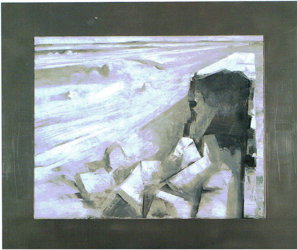 89º 29´ La - Norte, 2º 48´ Lo - Oeste. serie Geografía- óleo sobre tela- 120 x 101- 2000 - Jaime Sánchez