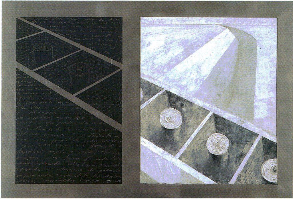 Egos, fragmento geografía- serie geografía- óleo sobre tela- 128 x 88 cm- 1999- Jaime Sánchez