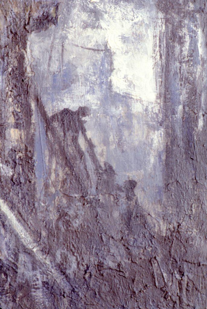 El incendio- pintura-técnica mixta- sobre papel- serie Factorías-Jaime Sánchez- 1986