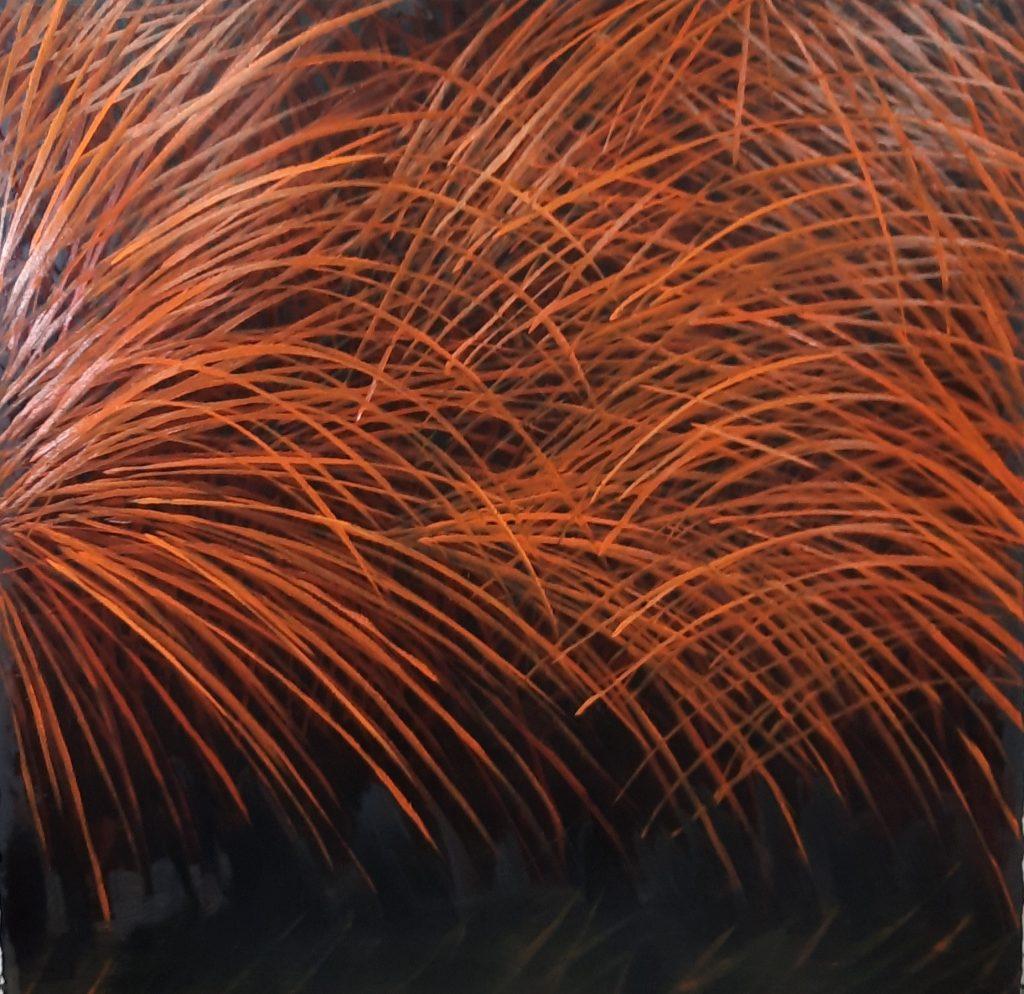 pintura- 12- serie Hierbas- Jaime Sánchez - técnica mixta sobre madera- 120 x 120 cm - 2021