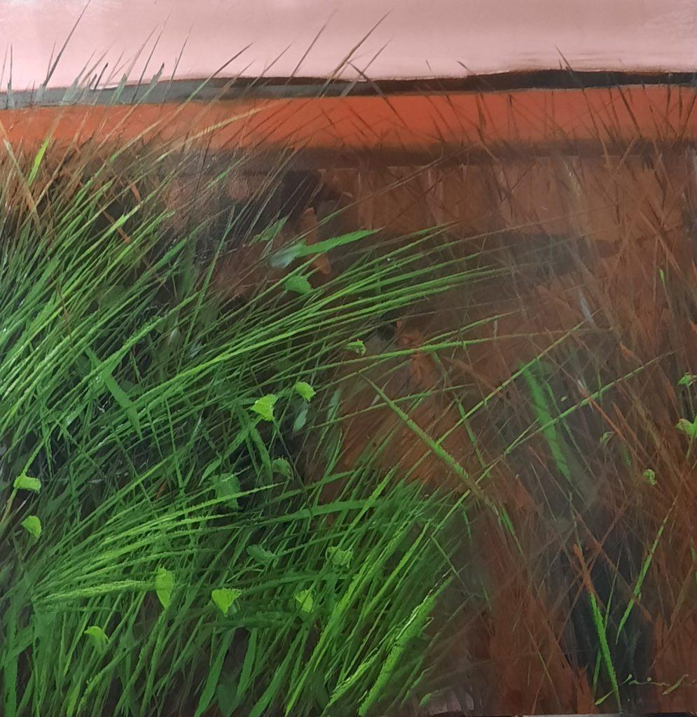 pintura - 5- serie Hierbas- Jaime Sánchez - técnica mixta sobre madera- 120 x 120 cm - 2021